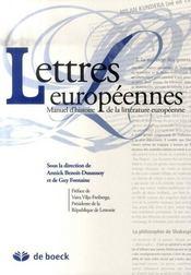 Lettres européennes ; manuel d'histoire de la littérature européenne - Intérieur - Format classique