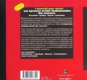 L'Essentiel Pour Reussir Les Epreuves Ecrites Fondamentales Des Concours - 4ème de couverture - Format classique