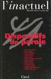 Revue L'Inactuel 05 - Dispositifs De Parole - Intérieur - Format classique