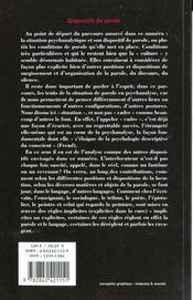 Revue L'Inactuel 05 - Dispositifs De Parole - 4ème de couverture - Format classique
