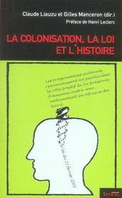 Colonisation, Loi Et L Histoire - Intérieur - Format classique
