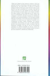 Pouvoir et liberté en politique ; actualité de Spinoza - 4ème de couverture - Format classique