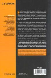 E-Learning - 4ème de couverture - Format classique