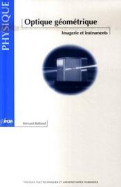 Optique geometrique. imagerie et instruments - Intérieur - Format classique