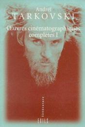 Oeuvres cinématographiques complètes t.1 - Couverture - Format classique