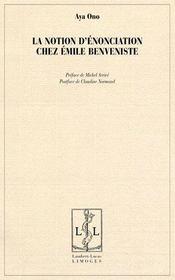 La notion d'énonciation chez Emile Benveniste - Intérieur - Format classique