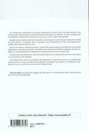 Droit Civil ; Les Obligations - 4ème de couverture - Format classique