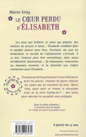 Oseras-Tu? T.2 ; Le Coeur Perdu D'Elisabeth - 4ème de couverture - Format classique
