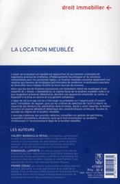 La Location Meublee - 4ème de couverture - Format classique