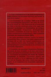 Code constitutionnel et des droits fondamentaux commenté (édition 2013) - 4ème de couverture - Format classique