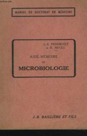 Aide-Memoire De Microbiologie - Couverture - Format classique