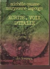 Ecrits Voix D'Italie - Couverture - Format classique