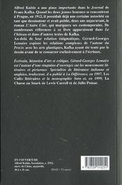 Kafka Et Kubin - 4ème de couverture - Format classique