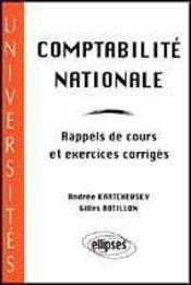 Comptabilite Nationale Rappels De Cours Et Exercices Corriges - Intérieur - Format classique