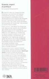 Science, argent et politique ; un essai d'interprétation - 4ème de couverture - Format classique