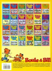 Boule & Bill t.22 - 4ème de couverture - Format classique