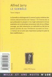 Le surmâle - 4ème de couverture - Format classique