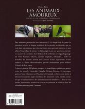 Les animaux amoureux - 4ème de couverture - Format classique