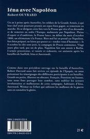 Iéna avec napoléon - 4ème de couverture - Format classique