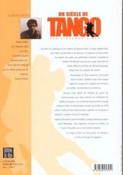 Un Siecle De Tango Paris Buenos Aires - 4ème de couverture - Format classique