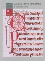 Beauté de la vie monastique et autres sermons - Couverture - Format classique