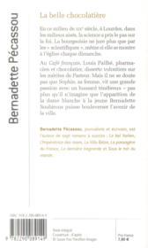 La belle chocolatière - 4ème de couverture - Format classique