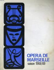 Opera De Marseille Saison 1968/69 - Couverture - Format classique
