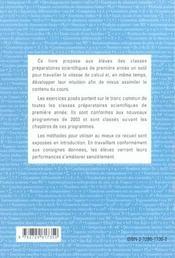 200 Jours De Tests Pour Ameliorer Sa Vitesse Et Son Intuition Mathematiques Mpsi Pcsi - 4ème de couverture - Format classique