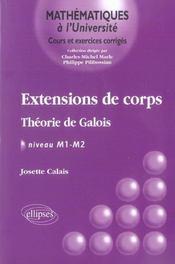 Extensions De Corps Theorie De Galois Niveau M1-M2 - Intérieur - Format classique