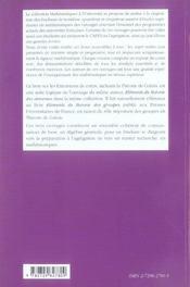 Extensions De Corps Theorie De Galois Niveau M1-M2 - 4ème de couverture - Format classique