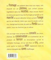 Cuisiner le fromage - 4ème de couverture - Format classique