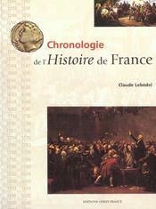 Chronologie De L'Histoire De France - Intérieur - Format classique