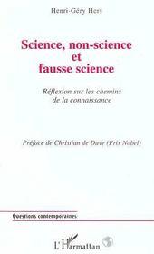 Science, non-science et fausse science ; reflexion sur les chemins de la connaissance - Intérieur - Format classique