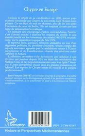 Chypre En Europe - 4ème de couverture - Format classique
