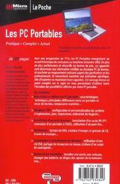 Les Pc Portables - 4ème de couverture - Format classique