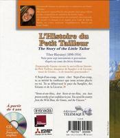 L Histoire Du Petit Tailleur + Cd Gratuit - 4ème de couverture - Format classique