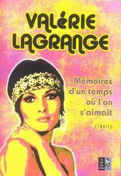 Memoires D'Un Temps Ou L'On S'Aimait - Intérieur - Format classique
