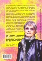 Memoires D'Un Temps Ou L'On S'Aimait - 4ème de couverture - Format classique