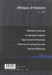 Afrique Et Histoire T.2 - 4ème de couverture - Format classique