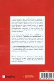 Memo Social 2001 - 4ème de couverture - Format classique