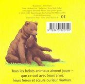 A Quoi Jouent Les Bebes Animaux - 4ème de couverture - Format classique
