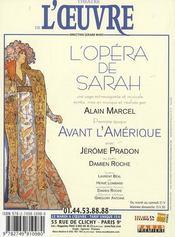 Revue L'Avant-Scene Theatre N.1256 ; L'Opéra De Sarah ; Janvier 2009 - 4ème de couverture - Format classique