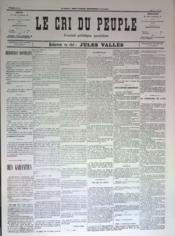 Cri Du Peuple (Le) N°66 du 06/05/1871 - Couverture - Format classique