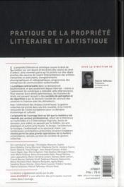 Pratique de la propriété littéraire et artistique - 4ème de couverture - Format classique