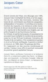 Jacques Coeur - 4ème de couverture - Format classique