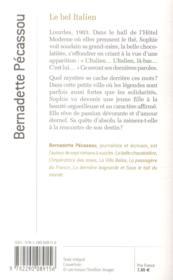 Le bel Italien - 4ème de couverture - Format classique