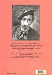 Le Bcd Du Peintre Moderne - 4ème de couverture - Format classique