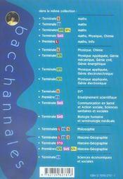 Bacchannales ; Mathématiques ; Terminale Es ; Sujets Du Bac Corrigés Et Commentés Et Résumé De Cours - 4ème de couverture - Format classique