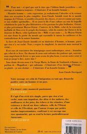 Itinéraire d'un chrétien d'orient - 4ème de couverture - Format classique