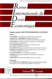 Revue Internationale De Droit Economique 1999/2 - Couverture - Format classique